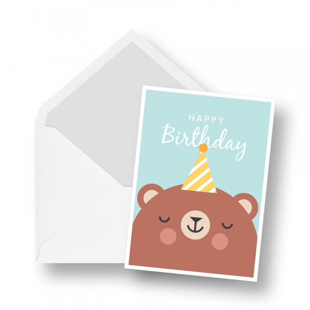 Birthday Card - Cute Bear