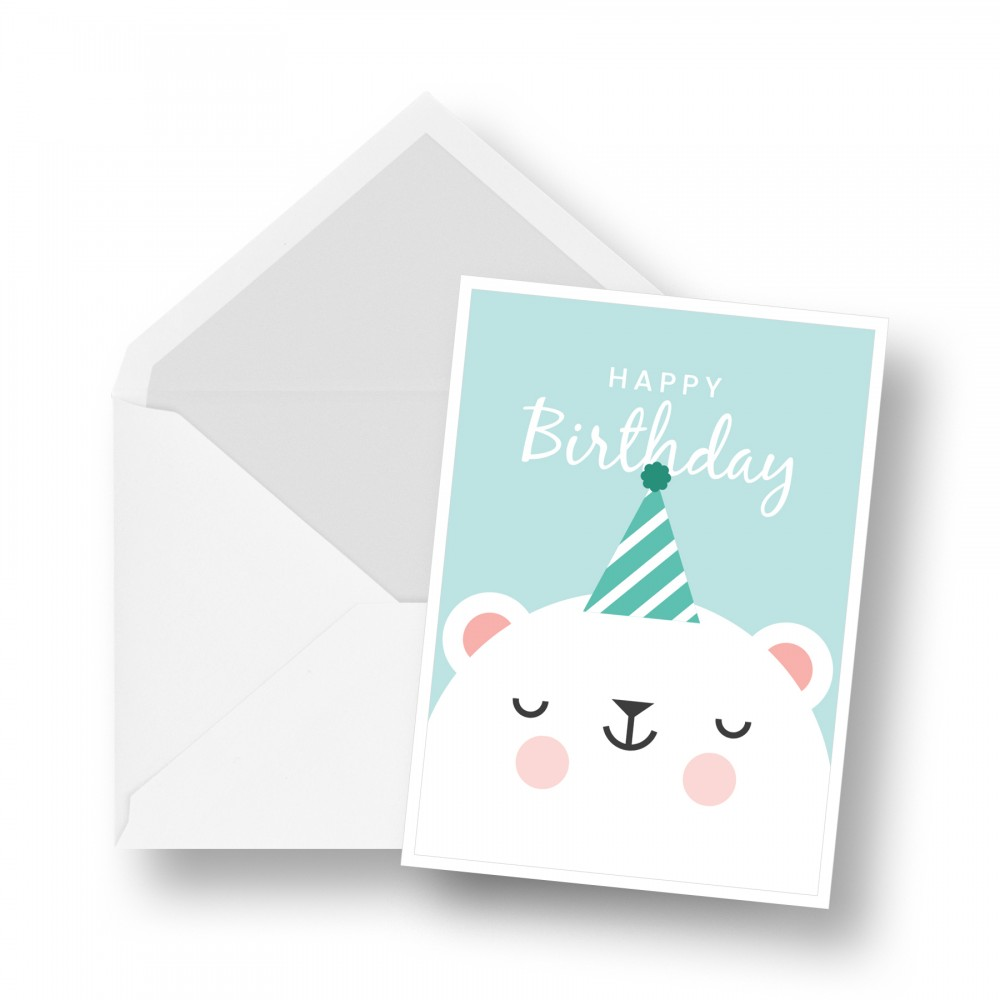 Birthday Card - Polar Bear