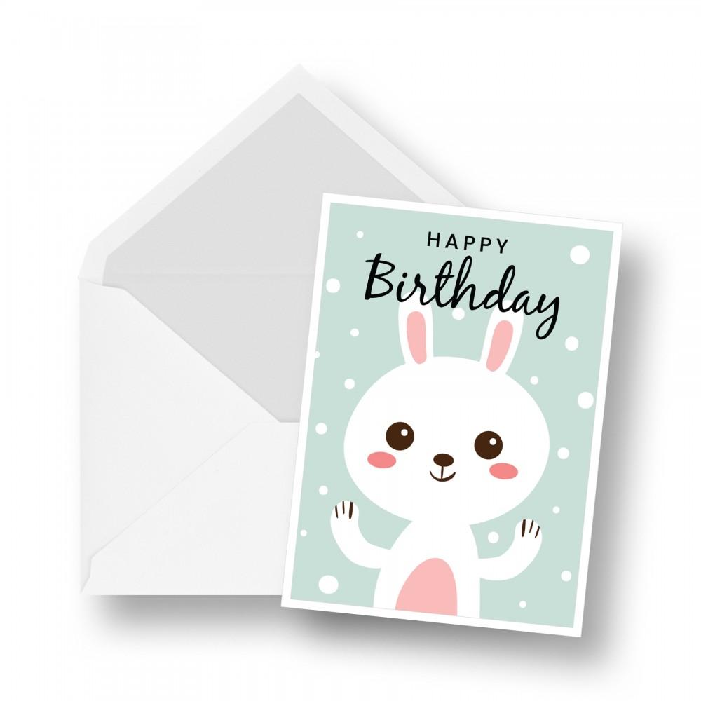 Birthday Card - Rabbit